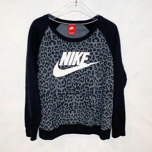Nike Leopard Popover Crewneck Sweatshirt